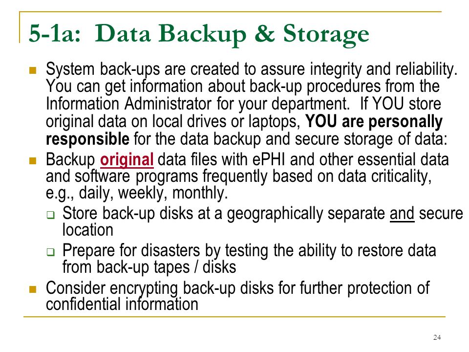 5-1a: Data Backup & Storage