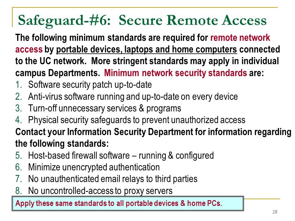 Safeguard-#6: Secure Remote Access