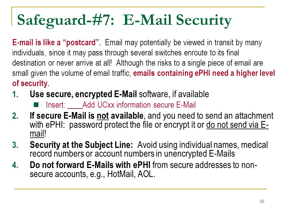 Safeguard-#7: E-Mail Security