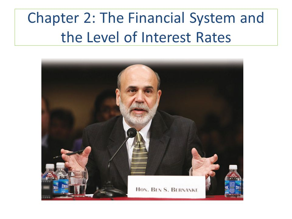 Chapter 2: The Financial System and the Level of Interest Rates