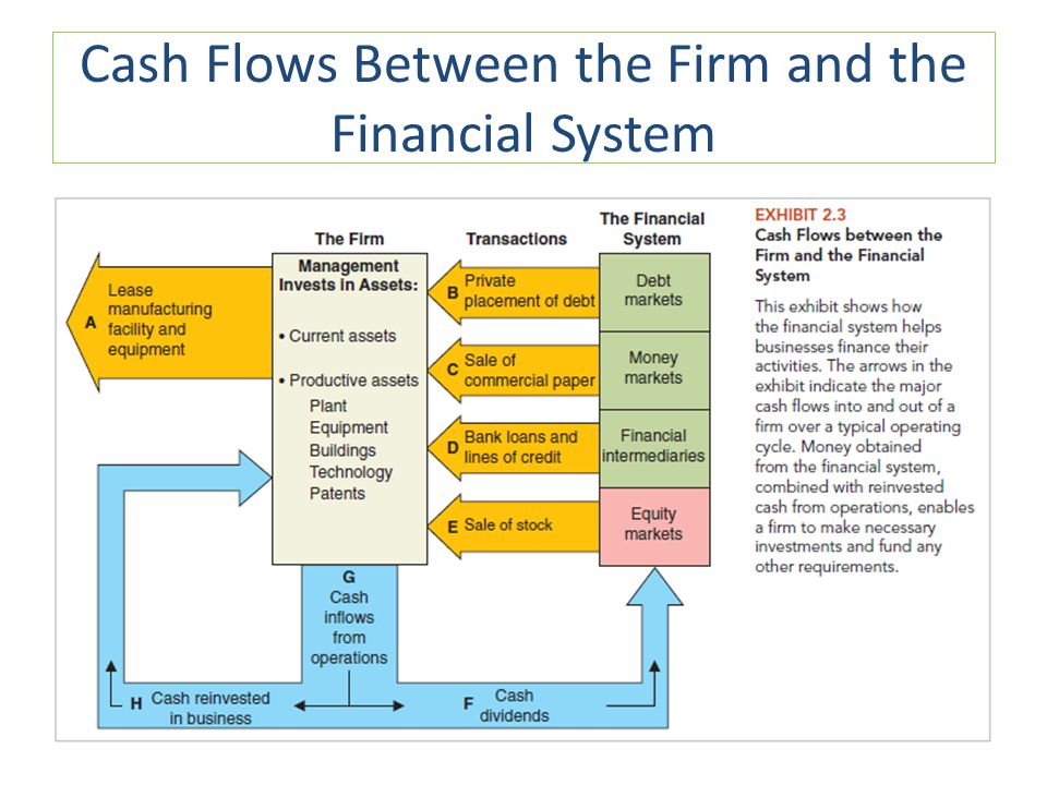 Cash Flows Between the Firm and the Financial System