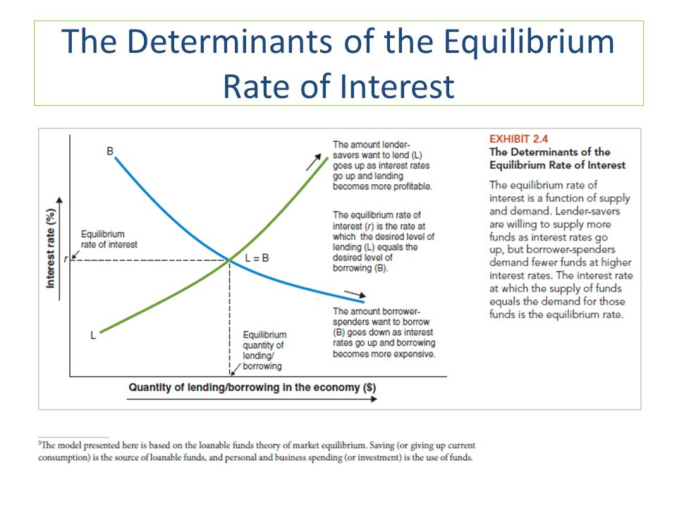The Determinants of the Equilibrium Rate of Interest