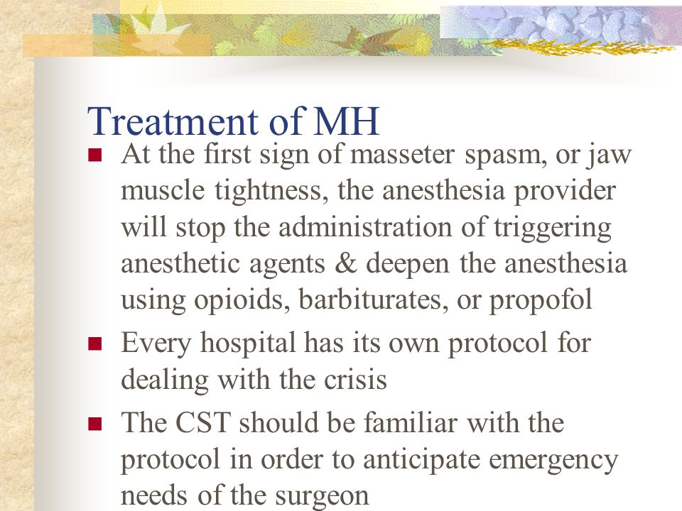 Treatment of MH
