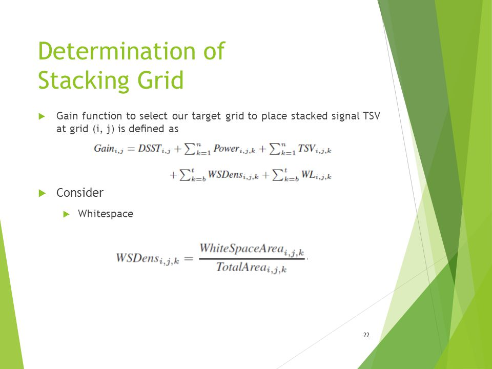 Determination of Stacking Grid