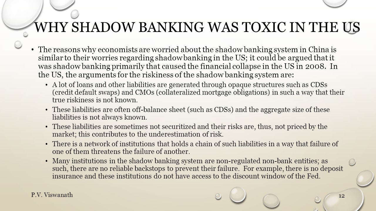 Why shadow banking was toxic in the US