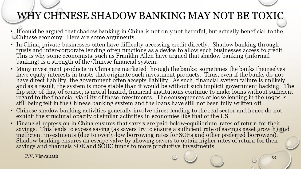 why Chinese shadow banking may not be toxic