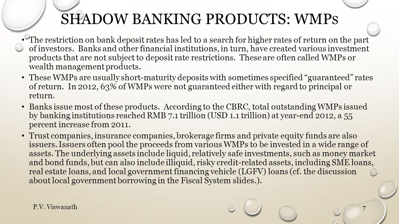 Shadow banking products: WMPs