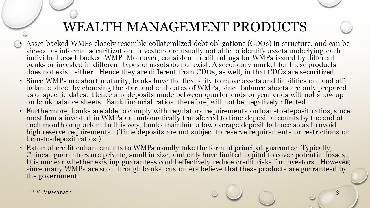 Wealth management products