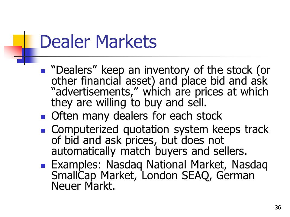 Dealer Markets