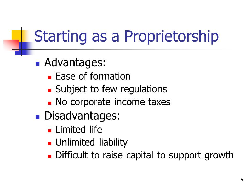 Starting as a Proprietorship