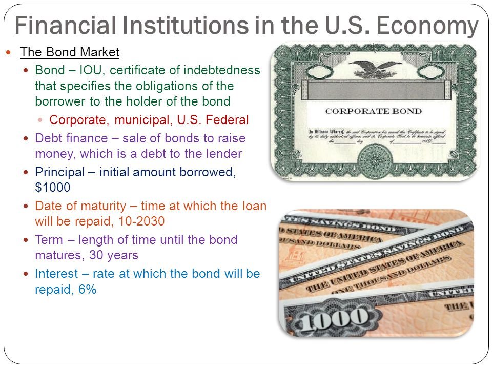 Financial Institutions in the U.S. Economy