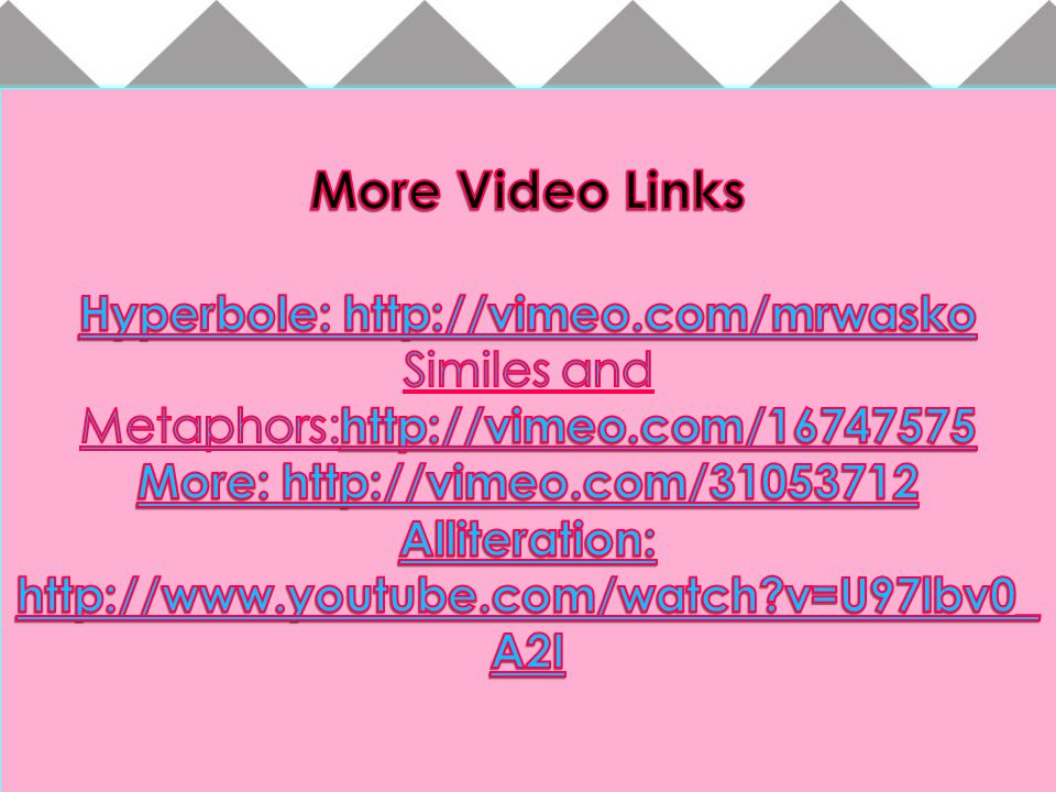 More Video Links Hyperbole: http://vimeo.com/mrwasko
