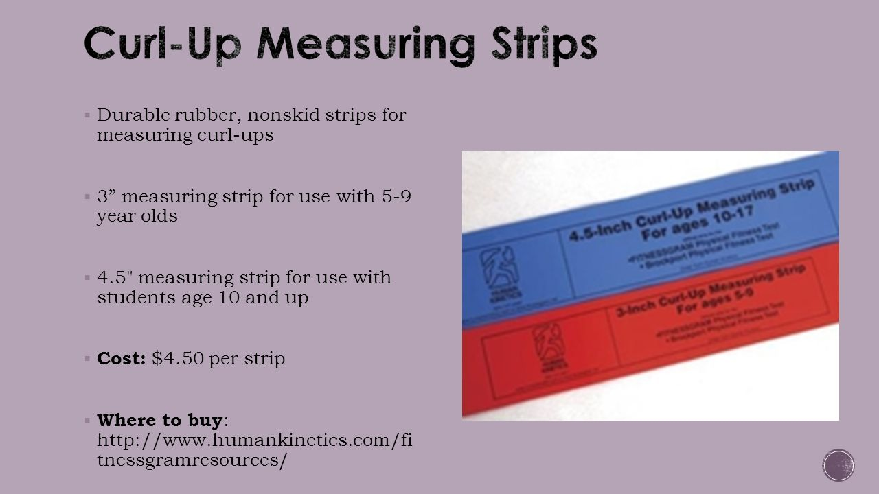 Curl-Up Measuring Strips