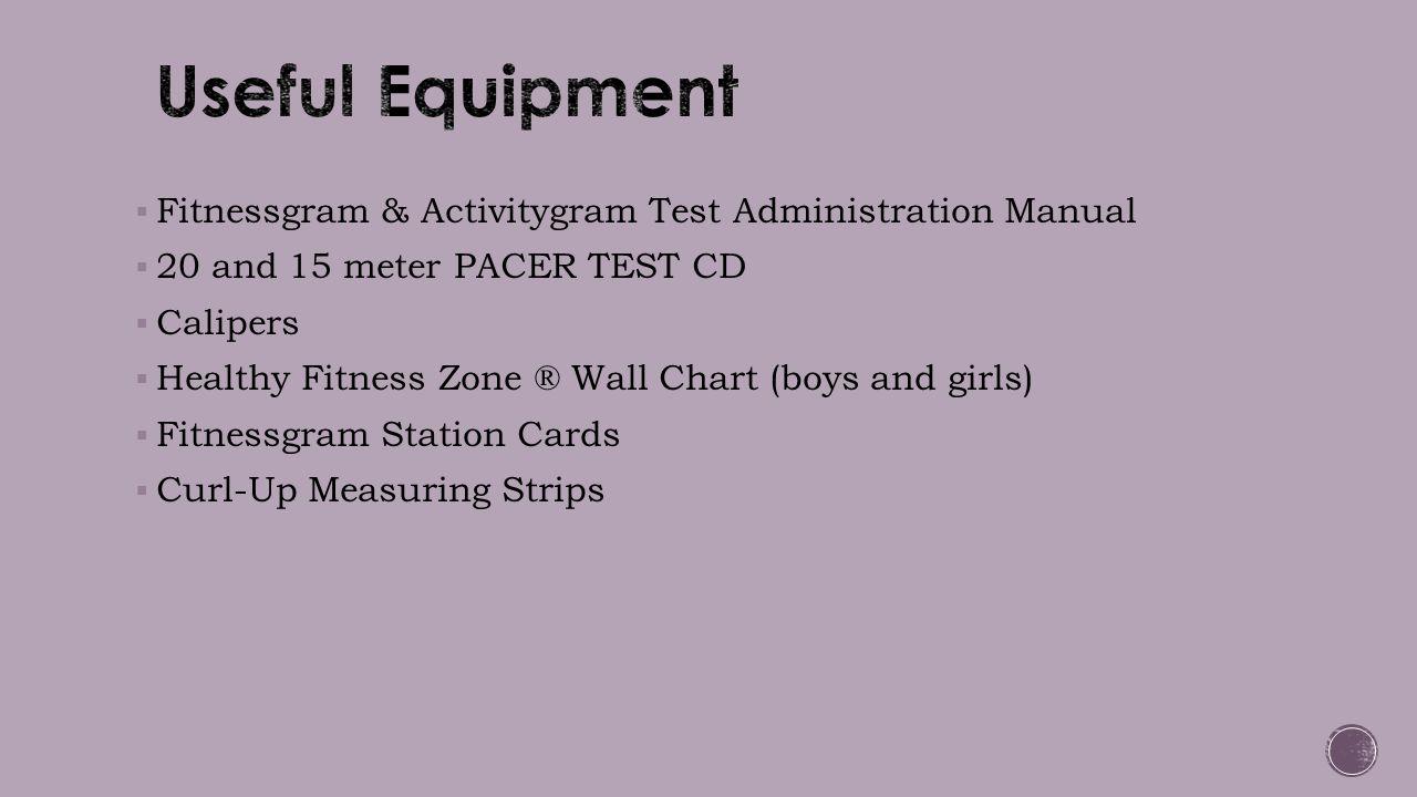 Useful Equipment Fitnessgram & Activitygram Test Administration Manual