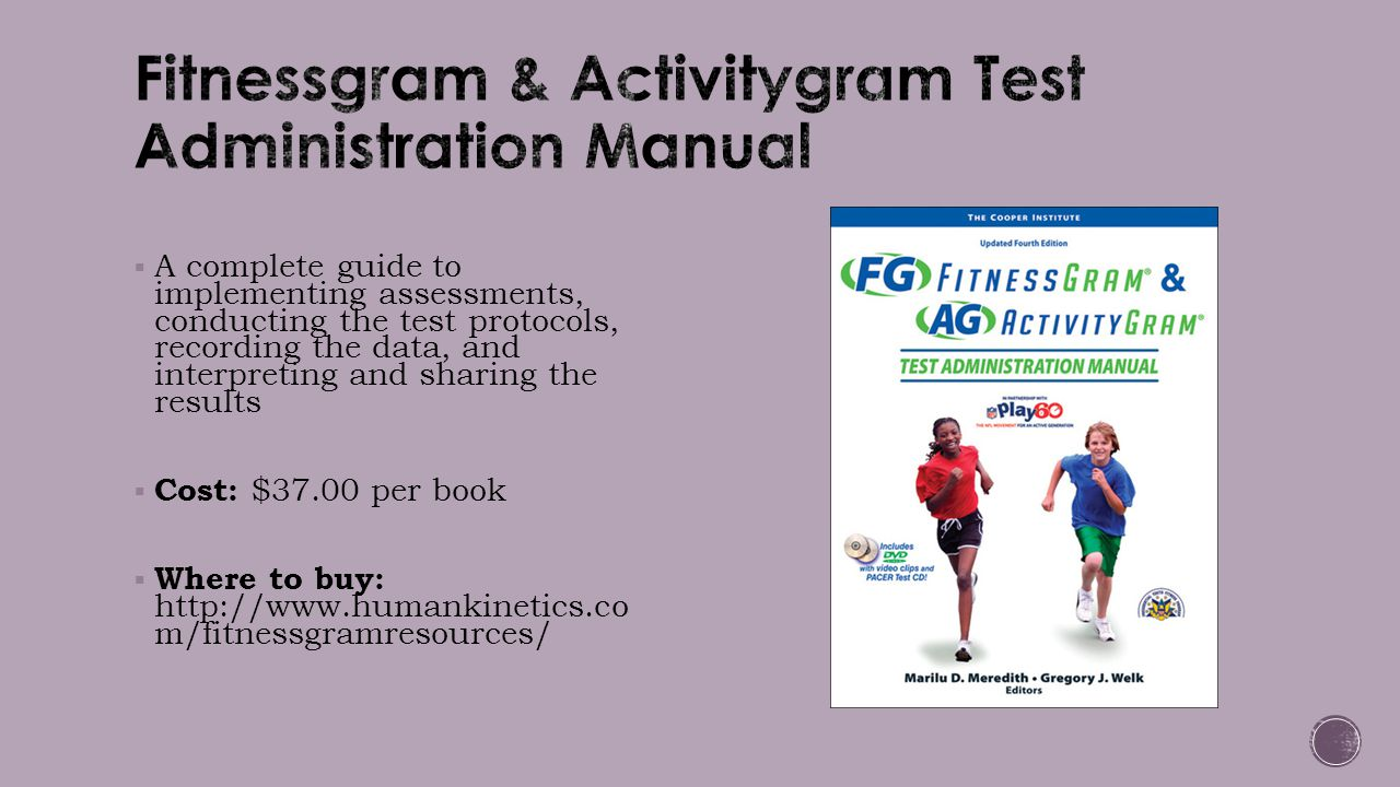 Fitnessgram & Activitygram Test Administration Manual