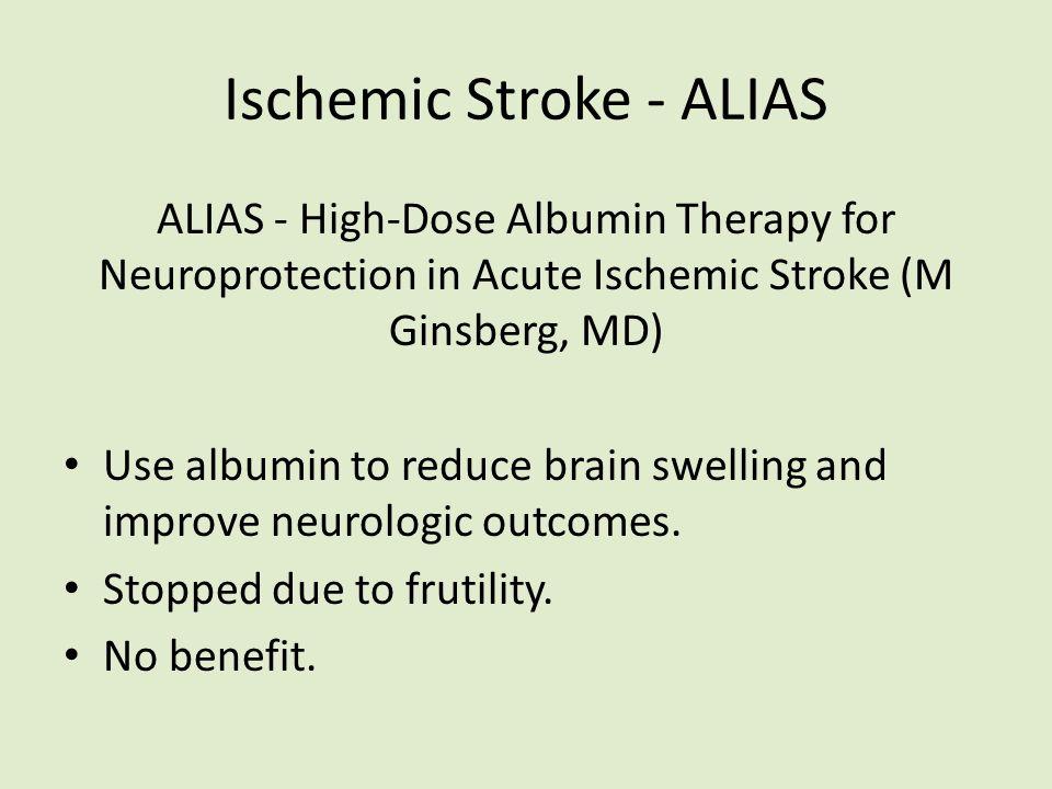 Ischemic Stroke - ALIAS