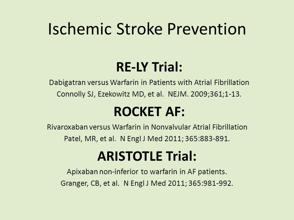 Ischemic Stroke Prevention