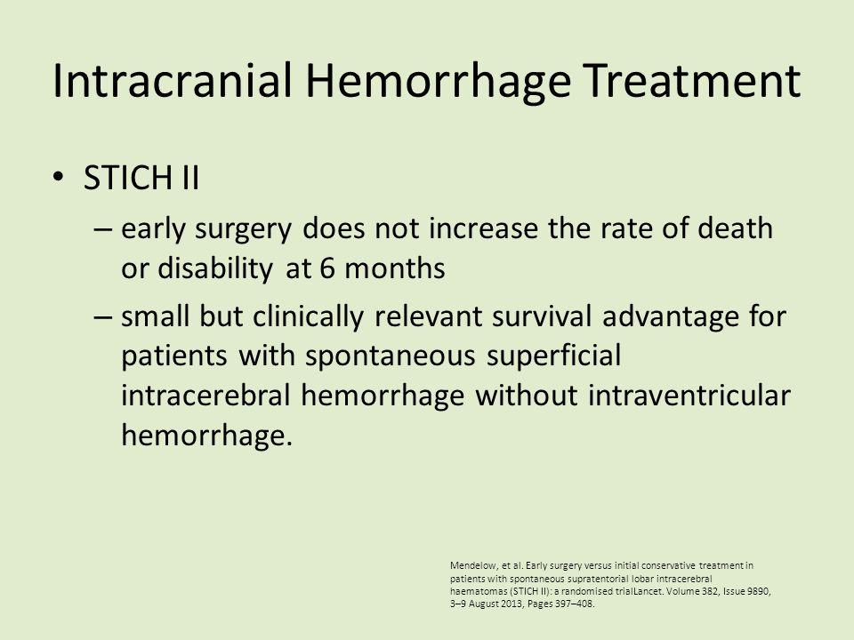 Intracranial Hemorrhage Treatment