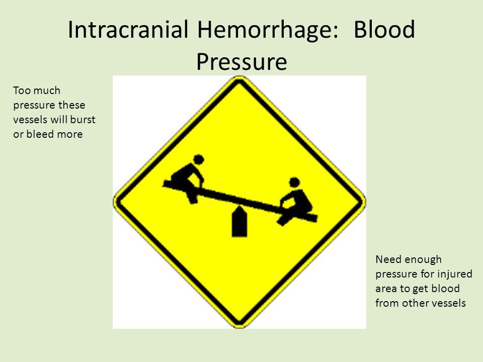 Intracranial Hemorrhage: Blood Pressure
