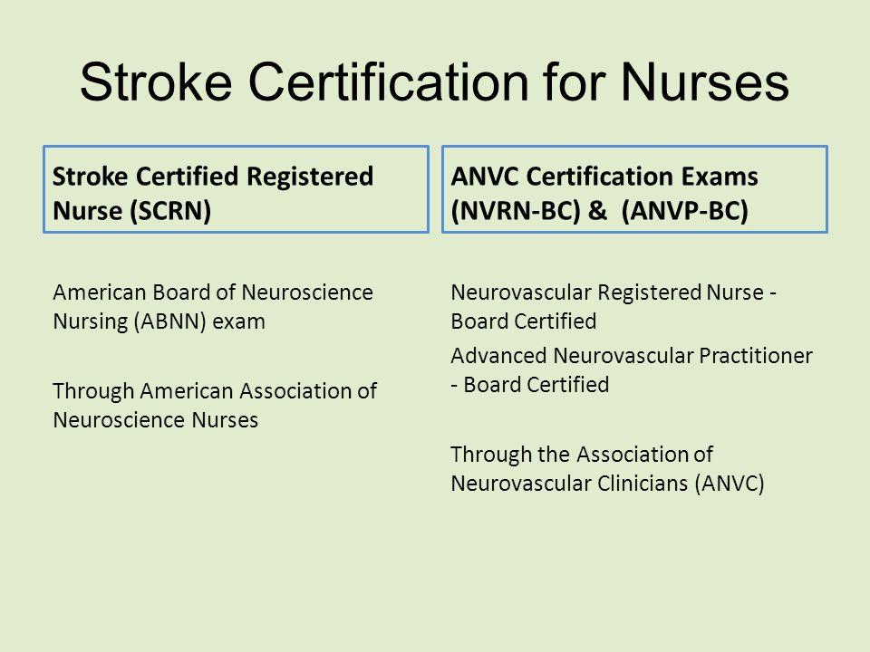Stroke Certification for Nurses