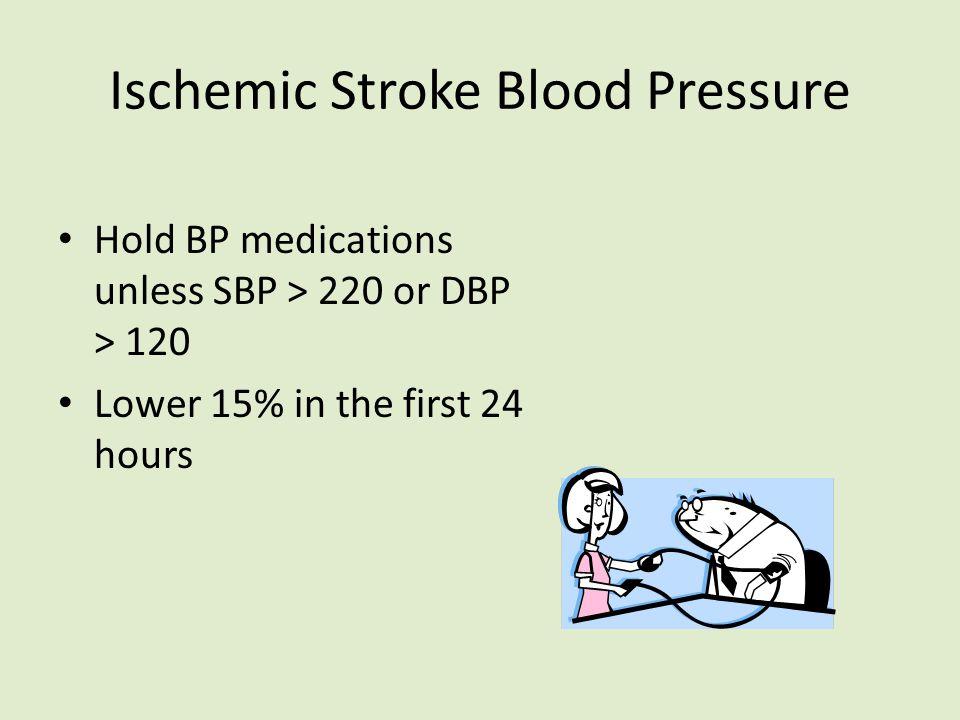 Ischemic Stroke Blood Pressure