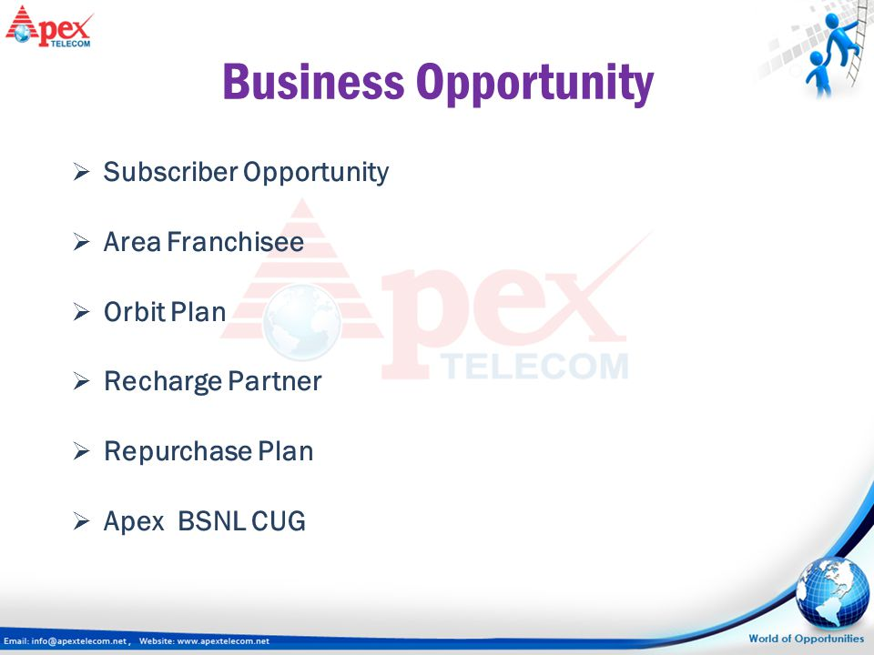 Business Opportunity Subscriber Opportunity Area Franchisee Orbit Plan