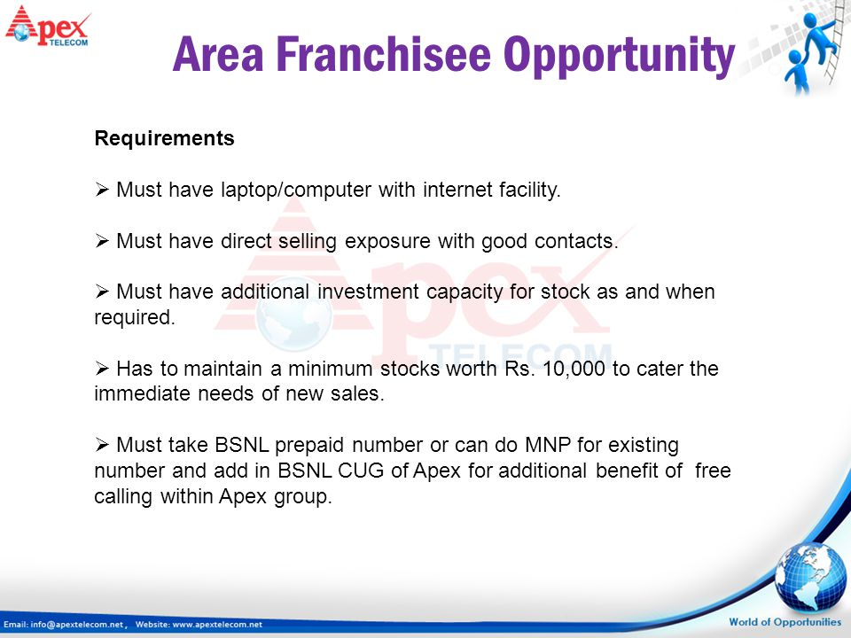 Area Franchisee Opportunity