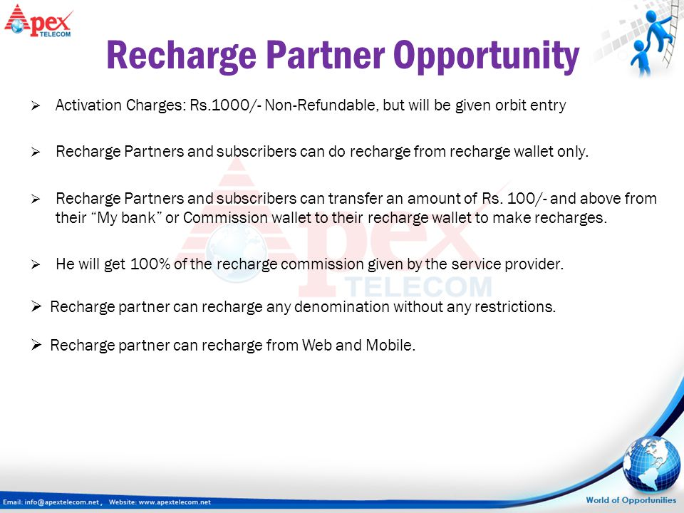 Recharge Partner Opportunity