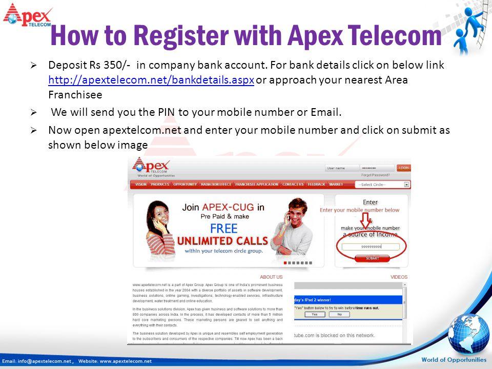 How to Register with Apex Telecom