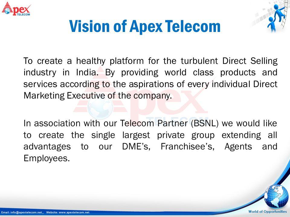 Vision of Apex Telecom