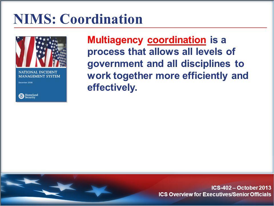 NIMS: Coordination