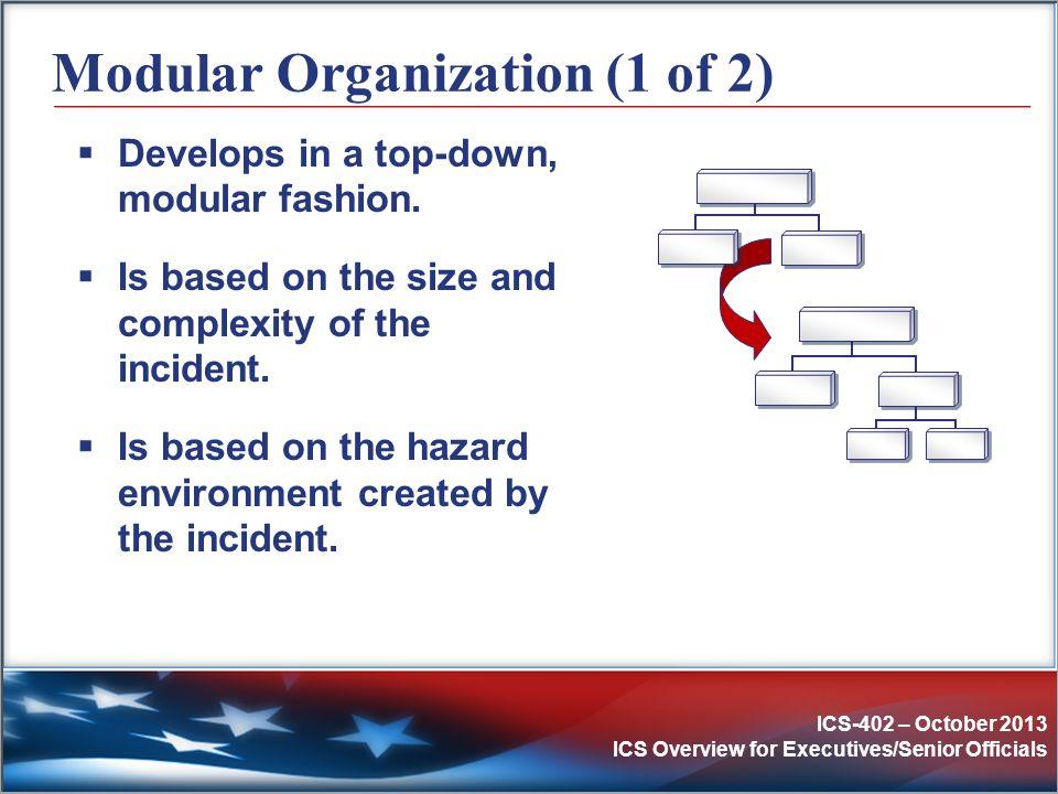 Modular Organization (1 of 2)