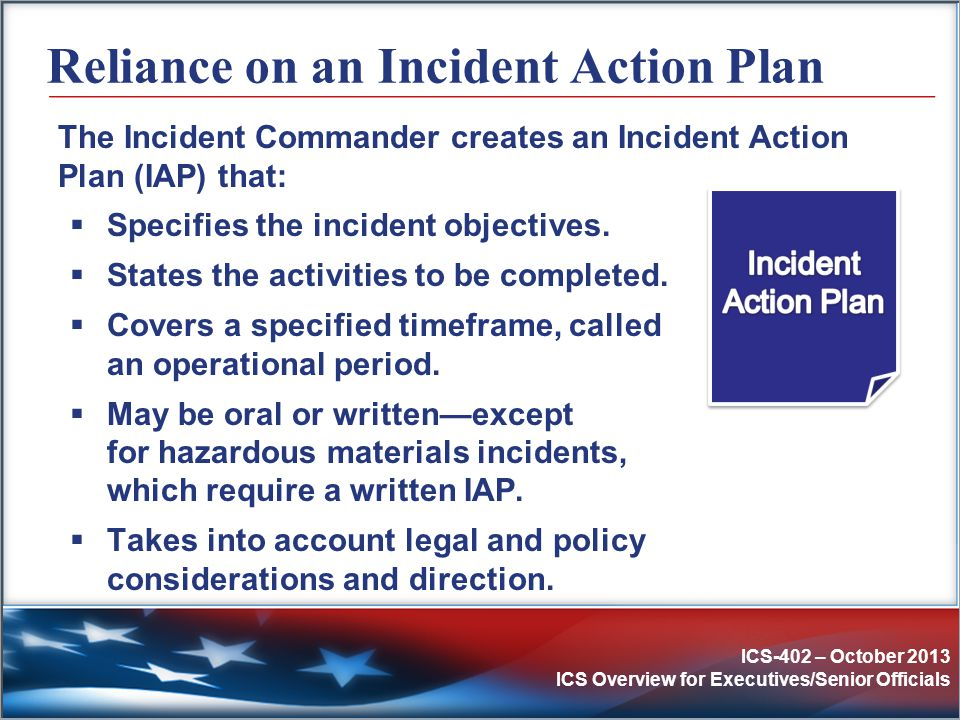 Ics Incident Command System Ics Overview For Executives