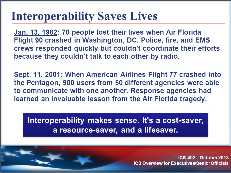 Interoperability Saves Lives