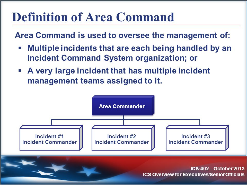 Definition of Area Command