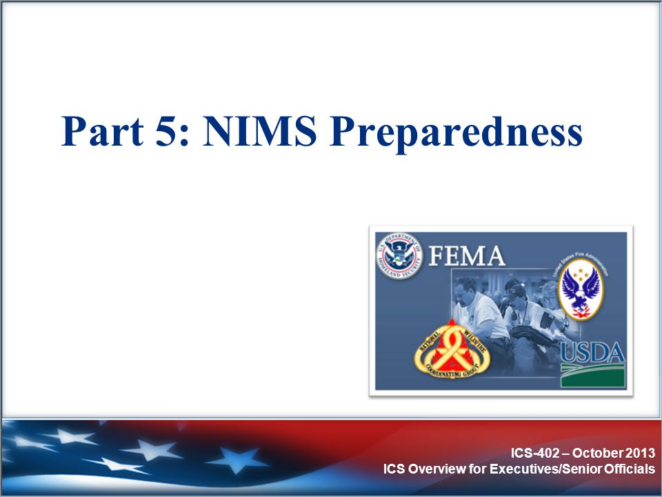 Part 5: NIMS Preparedness