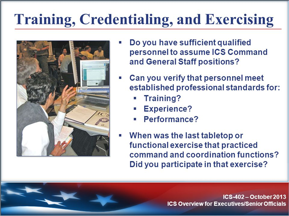 Training, Credentialing, and Exercising