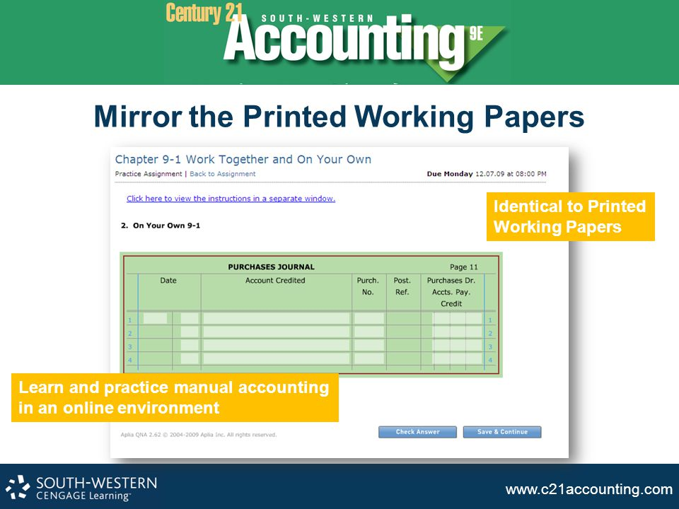 Mirror the Printed Working Papers