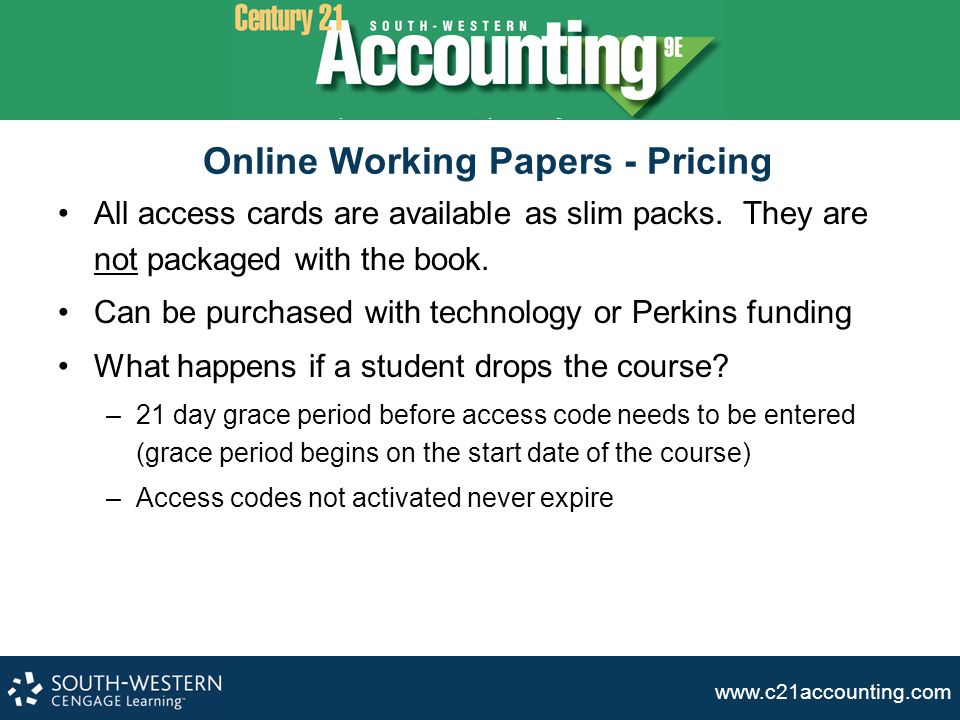 Online Working Papers - Pricing