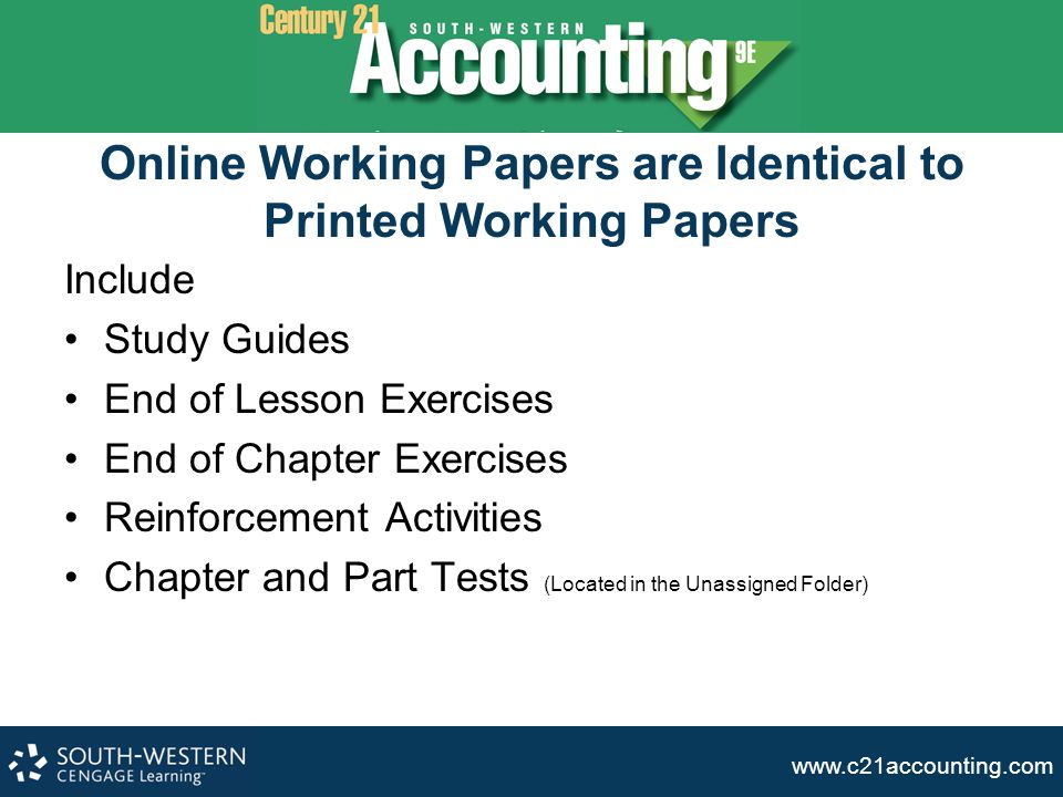 Online Working Papers are Identical to Printed Working Papers