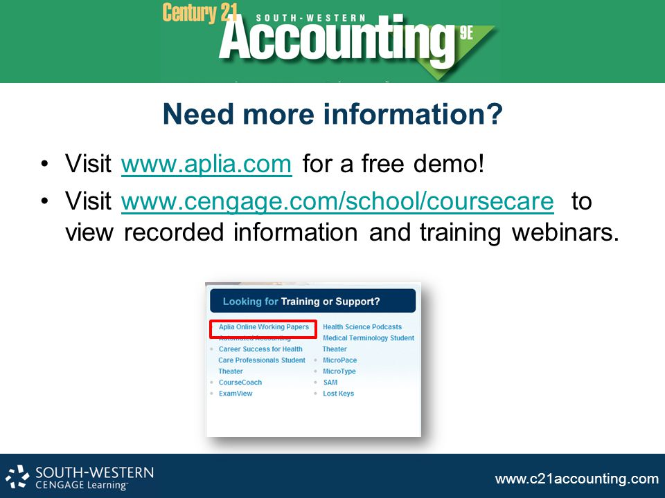Need more information Visit www.aplia.com for a free demo!
