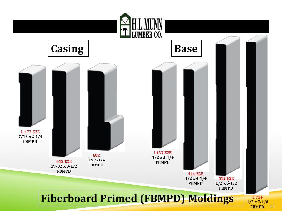 Fiberboard Primed (FBMPD) Moldings