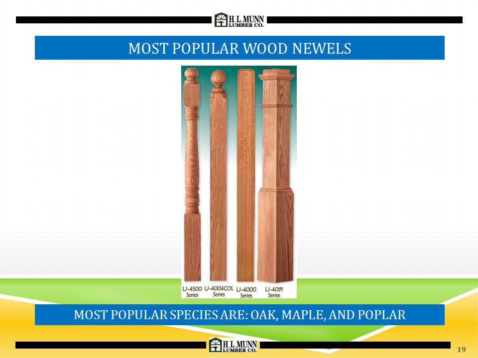 MOST POPULAR WOOD NEWELS