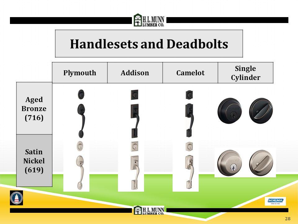 Handlesets and Deadbolts