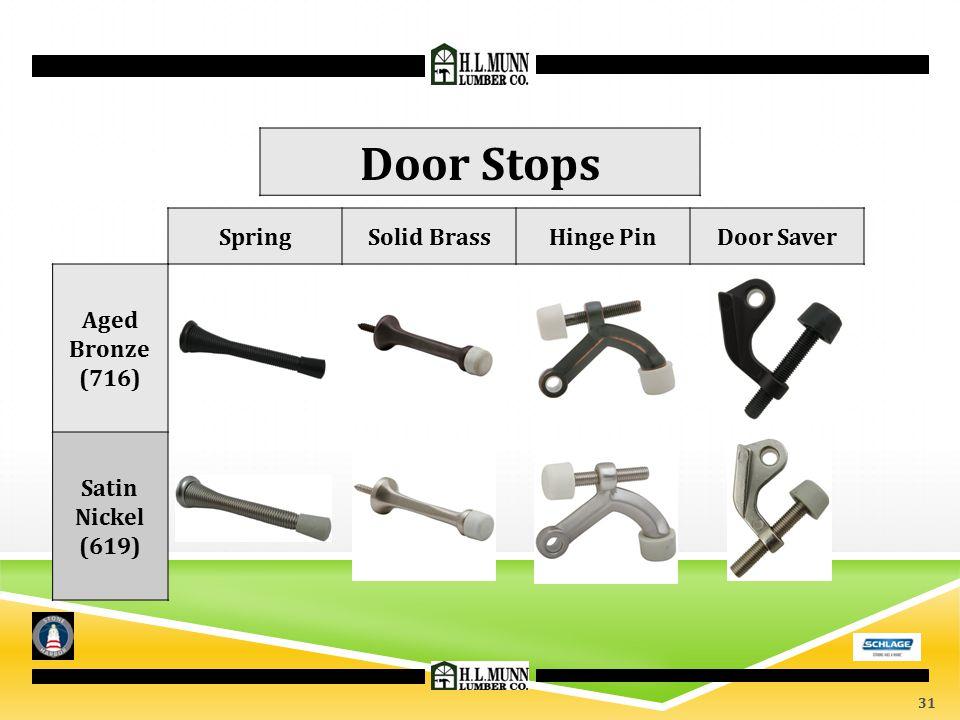 Door Stops Spring Solid Brass Hinge Pin Door Saver Aged Bronze (716)