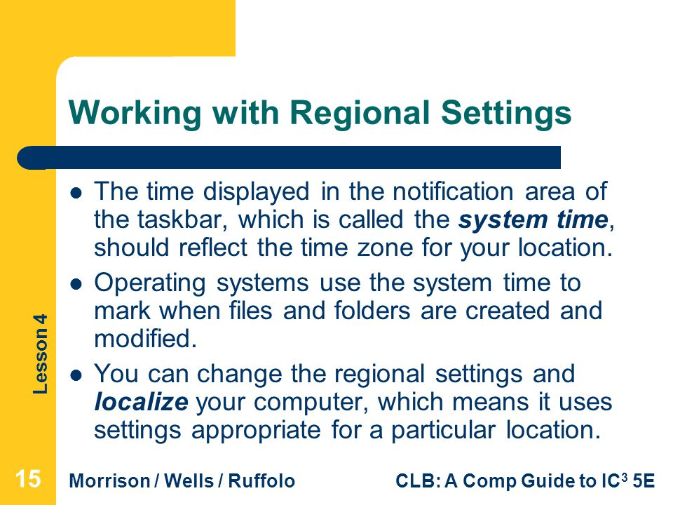 Working with Regional Settings