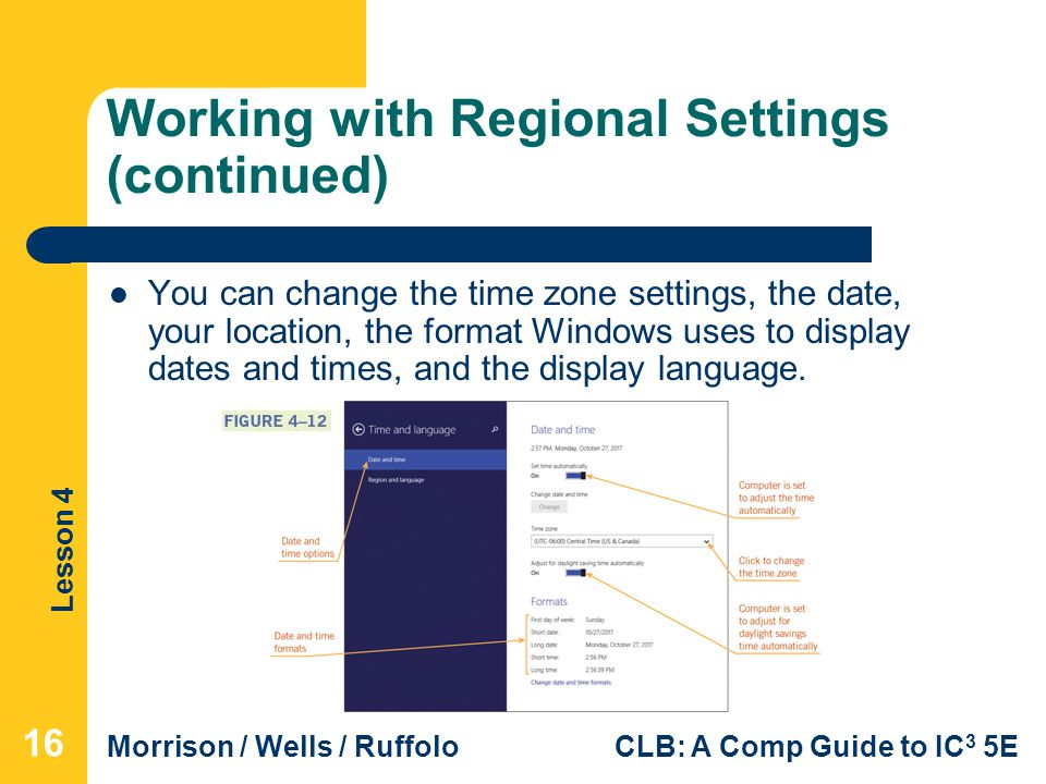 Working with Regional Settings (continued)
