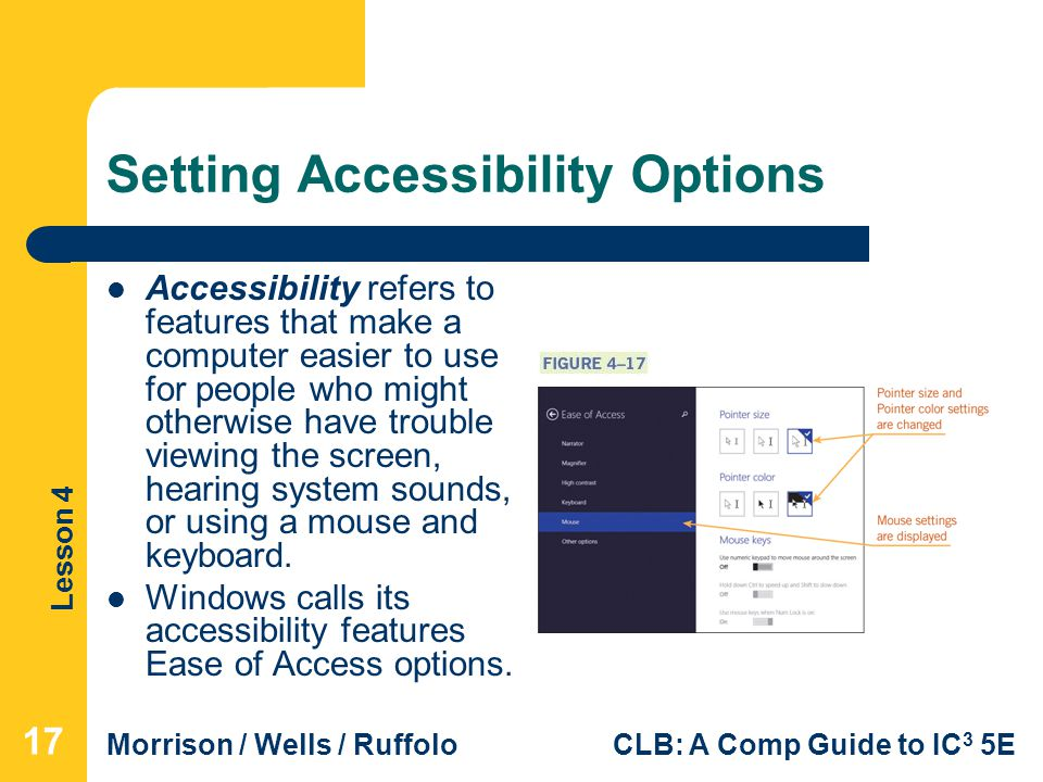 Setting Accessibility Options