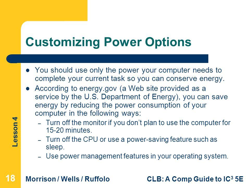 Customizing Power Options