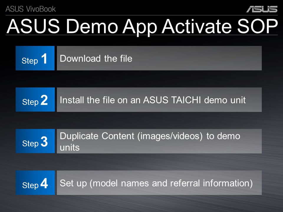 ASUS Demo App Activate SOP